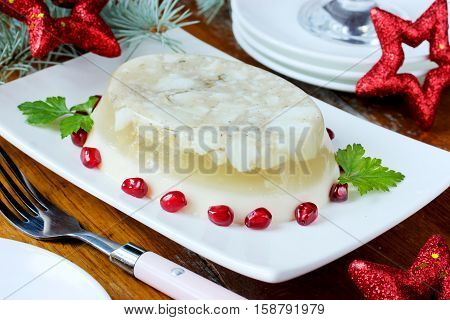 Galantine aspic for Christmas and New Year dinner