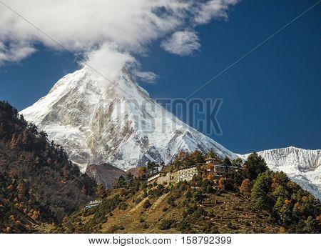 Manaslu mount. Himalayas, Nepal.