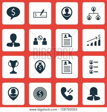 Set Of Management Icons On Female Application, Tree Structure And Employee Location Topics. Editable Vector Illustration. Includes Money, Discussion, Female And More Vector Icons.