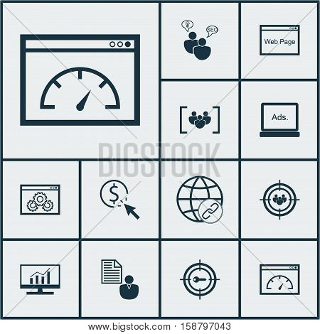 Set Of SEO Icons On Loading Speed, Keyword Marketing And PPC Topics. Editable Vector Illustration. Includes Comprehensive, Digital, Link And More Vector Icons.