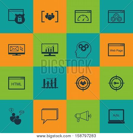 Set Of Advertising Icons On Loading Speed, Conference And Market Research Topics. Editable Vector Illustration. Includes Page, Conference, Comprehensive And More Vector Icons.