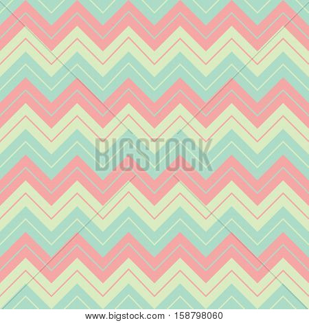 Horizontal geometric soft pastel colors broken lines seamless pattern sharp corners shape wrapping mockup