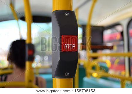 Bus stop button for blind and seers
