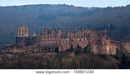 Heidelberg Castle / The medieval castle of Heidelberg, Southern Germany.