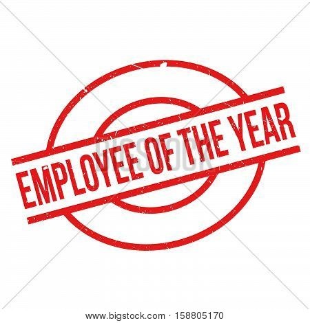 Employee Of The Year Rubber Stamp