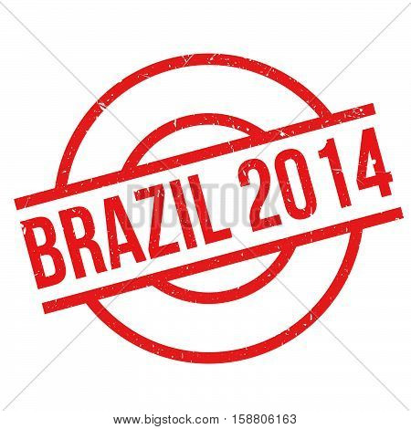 Brazil 2014 Rubber Stamp