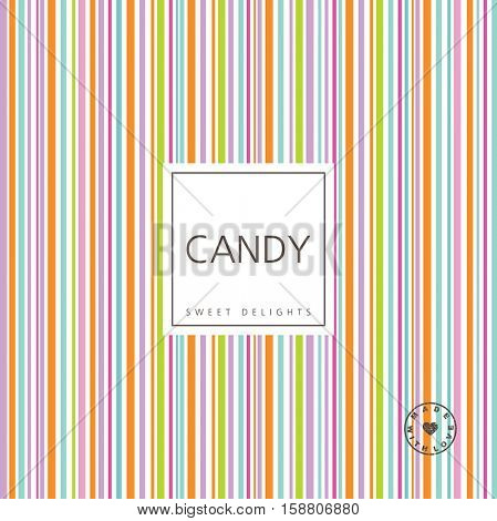 Candy background - sweet delights. Seamless pattern swatch  included.