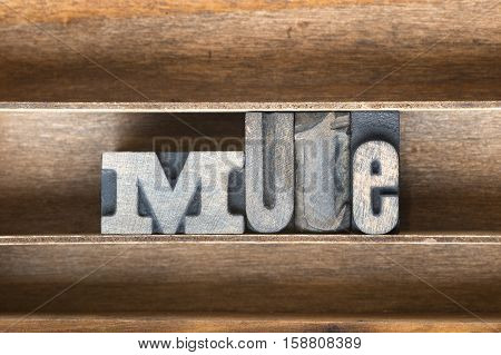 Mute Wooden Tray