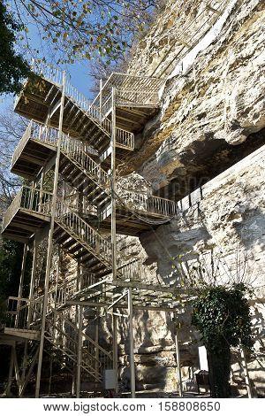 Aladzha rock monastery, Varna, Bulgaria, tourist site