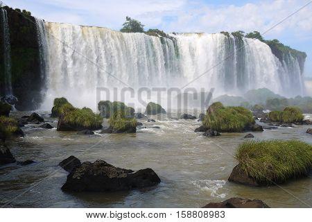 Iguazu Falls Foz Iguacu Brazil Argentina waterfall nature