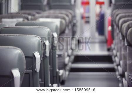 Emtpy Interior Of The Train