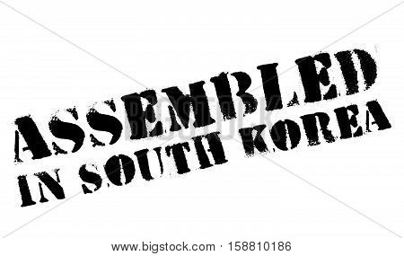 Assembled In South Korea Rubber Stamp