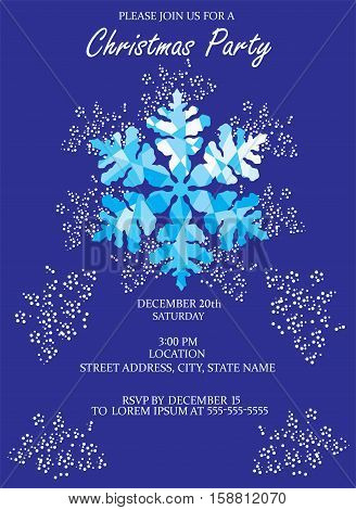 vector illustration of Chritmas card invitation with snowflake