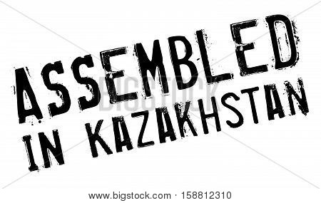 Assembled In Kazakhstan Rubber Stamp