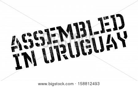 Assembled In Uruguay Rubber Stamp