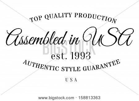 Assembled In Usa Rubber Stamp