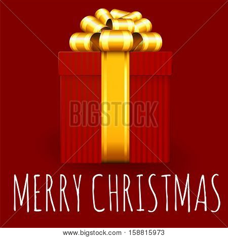 Christmas and New Year gift box greeting card vector template.
