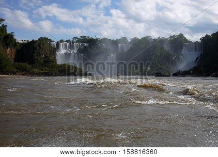 Iguazu Falls Foz Iguacu Brazil Argentina waterfall nature tourism