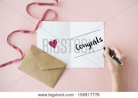 Congrats Greeting Achievement Honor Victory Concept