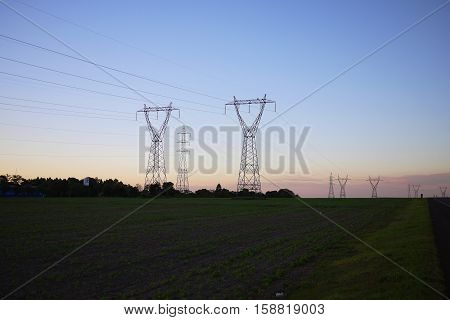 Power transmission tower Brazil hydroelectric electricity cable electrical