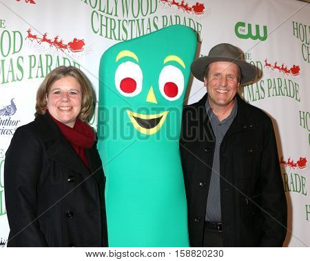 LOS ANGELES - NOV 27:  Ann Clokey, Gumby, Joe Clokey at the 85th Annual Hollywood Christmas Parade at Hollywood Boulevard on November 27, 2016 in Los Angeles, CA