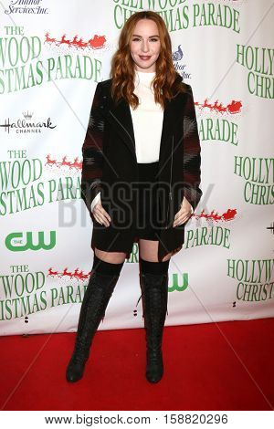 LOS ANGELES - NOV 27:  Camryn Grimes at the 85th Annual Hollywood Christmas Parade at Hollywood Boulevard on November 27, 2016 in Los Angeles, CA