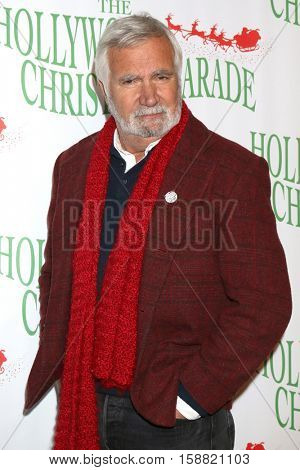 LOS ANGELES - NOV 27:  John McCook at the 85th Annual Hollywood Christmas Parade at Hollywood Boulevard on November 27, 2016 in Los Angeles, CA