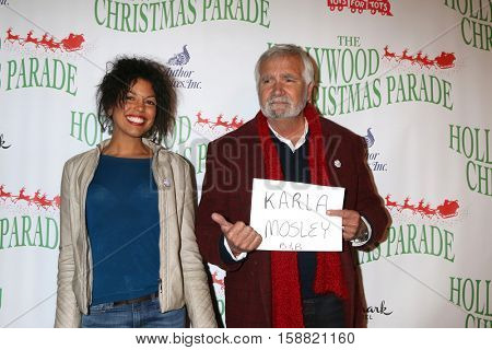 LOS ANGELES - NOV 27:  Karla Mosley, John McCook at the 85th Annual Hollywood Christmas Parade at Hollywood Boulevard on November 27, 2016 in Los Angeles, CA