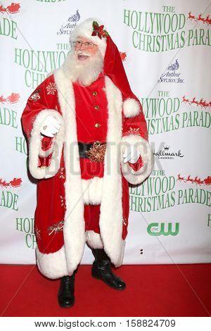 LOS ANGELES - NOV 27:  Tim Connaghan, aka Santa Claus at the 85th Annual Hollywood Christmas Parade at Hollywood Boulevard on November 27, 2016 in Los Angeles, CA