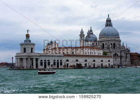 Basilica Saint Mary of Health - Roman Catholic church and minor basilica located at Punta della Dogana in the Dorsoduro sestiere of the city of Venice, Italy