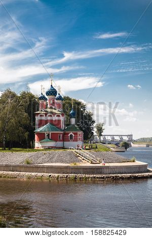Church of St. Demetrios on the Blood on the banks of the Volga river (Uglich Russia)