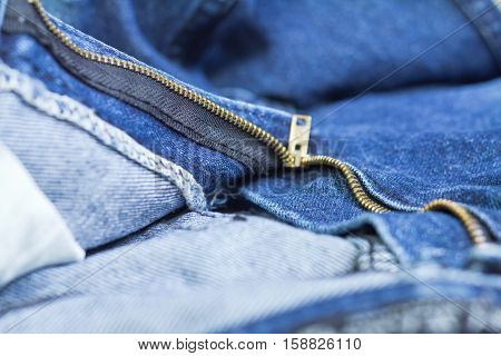 blue denim jeans, open zip front background