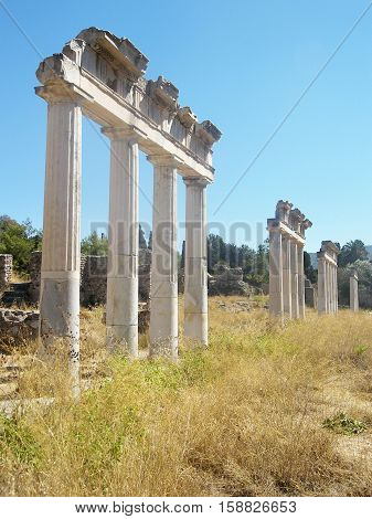 Ancient remnants of once a glorious era on the island of Kos, Greece.