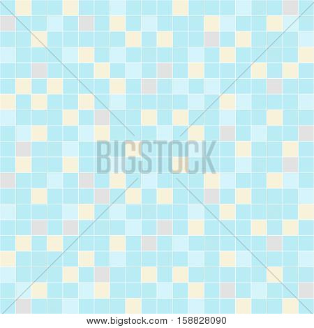 Tiles seamless blue background. Vector illustration. Design of wall tile for home or pool.