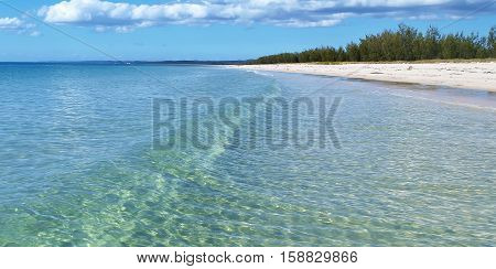 Crystal Clear waters of Hervey Bay North Fraser Island Queensland Australia.