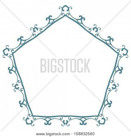Pentagonal frame Isolated design element