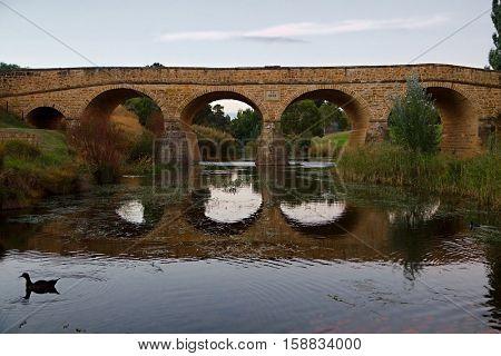Old bridge in Richmond, Tasmania, oldest bridge in Australia still in use