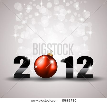 Colorful New Year Celebration Background with Glitter