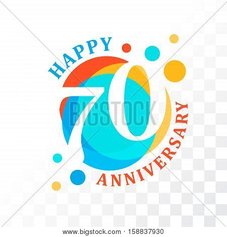 65th Anniversary emblem. Vector template for anniversary birthday and jubilee
