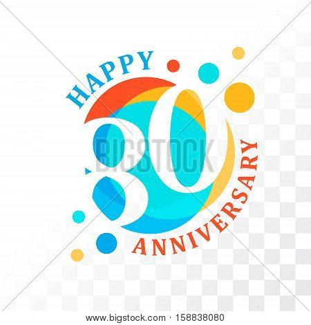 80th Anniversary emblem. Vector template for anniversary birthday and jubilee