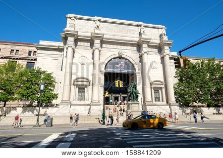 NEW YORK,USA - AUGUST 20,2016 : The American Museum of Natural History in New York City