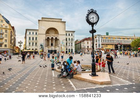 Romania, Timisoara, 22 July, 2014: View Of City Center In Timisoara On July 22, 2014, Romania. Timis