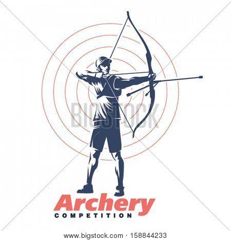Archery. Sport emblem