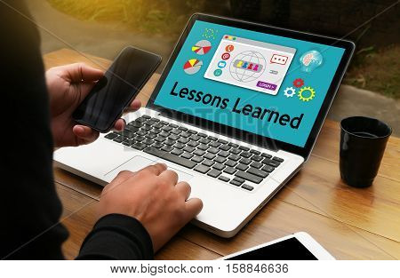 Lessons Learned Learning Global Connectivity Technology Lessons Learned and What Have You Learned? thought about lessons Lessons Learned poster