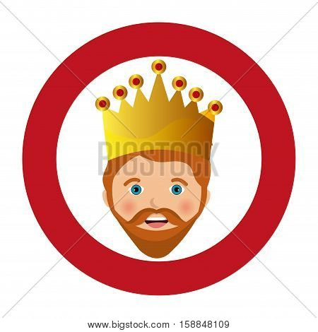 happy epiphany card manger character vector illustration design