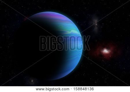 Blue Planet Deep In The Space