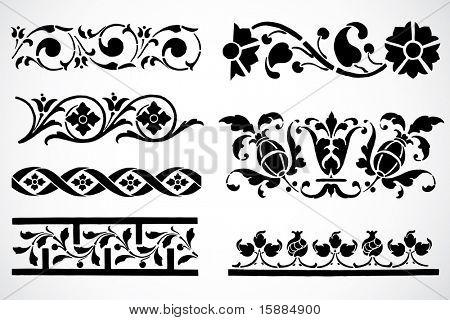 Vector Floral Border Ornaments