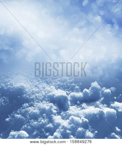 Christmas abstract background. Winter landscape. The texture of the snow