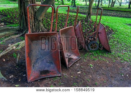 The Steel  Old trolley in the garden