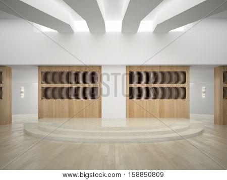Interior of modern concert hall 3D rendering